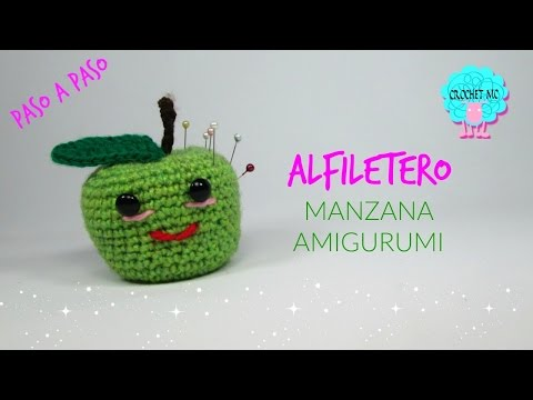 Tutorial manzana alfiletero/ amigurumi