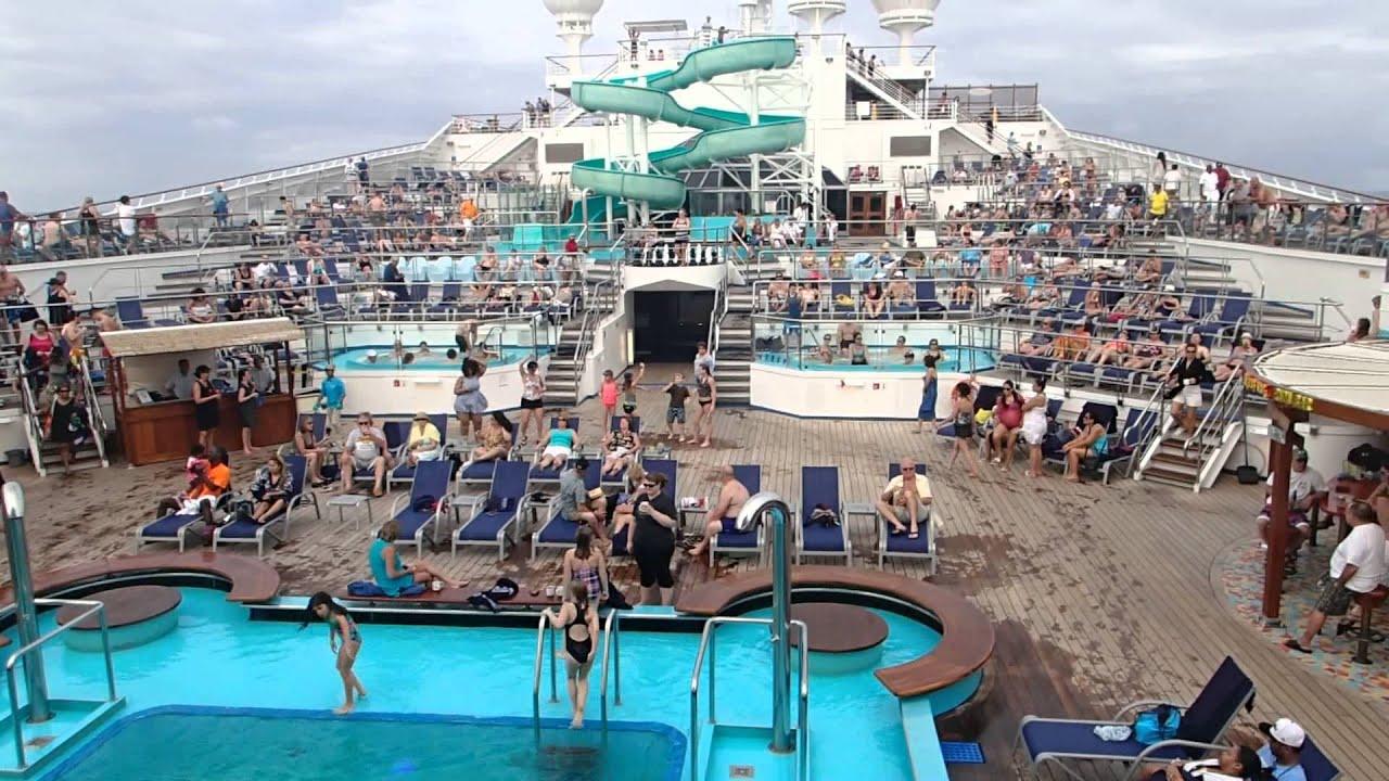 Dancing Aboard The Cruise Ship Carnival Glory Jan 2014