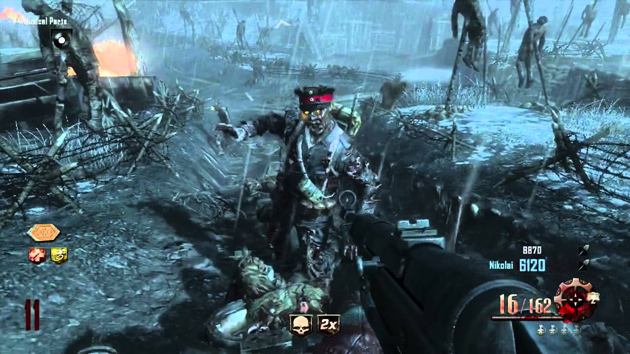 how to play black ops zombies with 2 players ps3