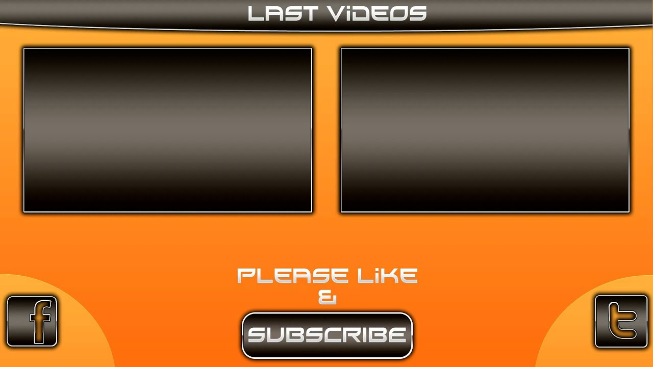 Blank youtube outro template images for Blank outro template