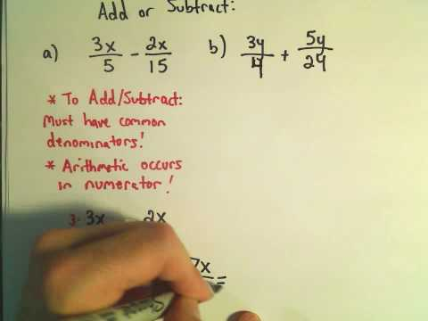 Fractions:  Adding and Subtracting Fractions with Unlike Denominators