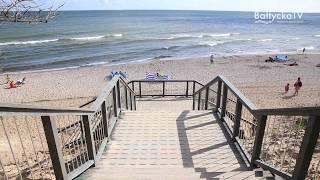 Najbardziej popularne w Chłapowie zejście na plażę nr 14 jest już dostępne. Szerokie, wygodne, a pr