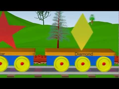 "Shapes train - Learning Shapes for Kids ""RhymesChildren"""