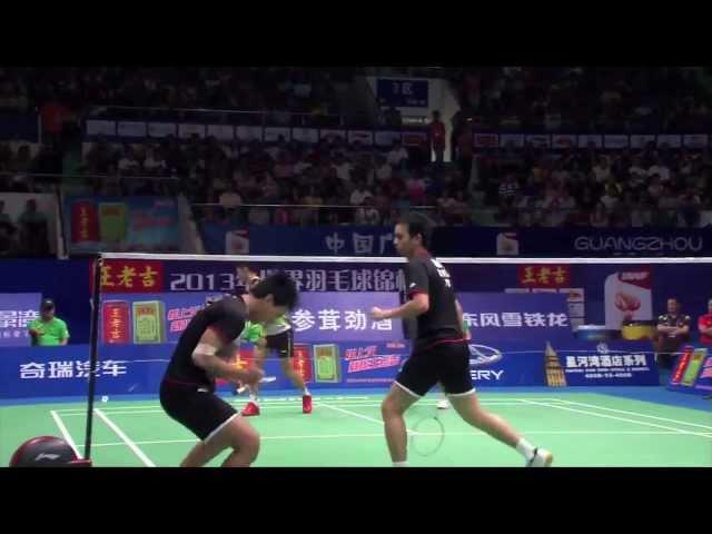 SF - MD (Highlight) - M.Ahsan/H.Setiawan vs Cai Y./Fu HF. - 2013 BWF World Championships
