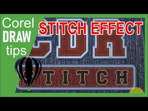 Creating stitched text effect in CorelDraw -hwbXJYXBH00