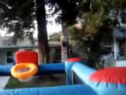 bounce house zip-line