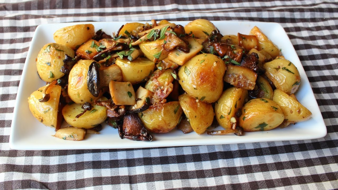 Wild Mushroom & Potato Salad - Fall Mushroom & Potato Side Dish Recip...