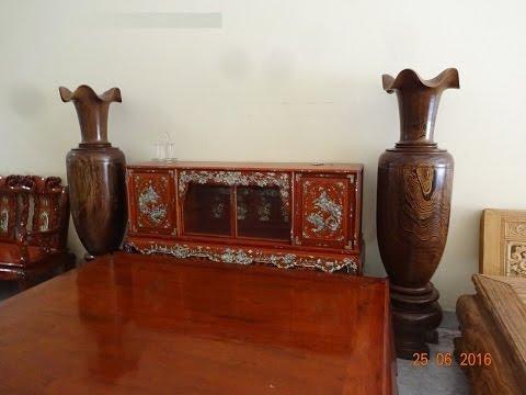 Lộc bình gỗ mun Nam phi, cao 191 x vanh 160, 25-6-2016. Đồ Gỗ Đức Hiền