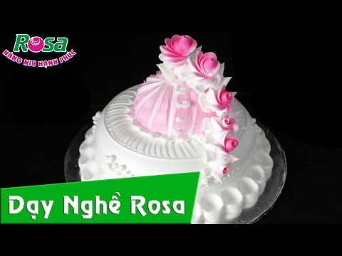 Làm Bánh Kem - Sinh nhật kiểu Hoa Hồng của học viên Đào