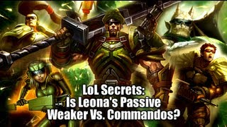LoL Secrets: Leona's Hidden Passive Vs. Sunglasses