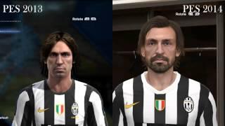 Pro Evolution Soccer 2013 2014 Face Comparison