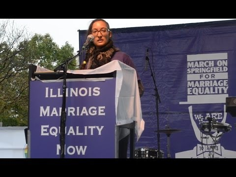 Naomi Lahiri Speaks At Illinois Marriage Equality March