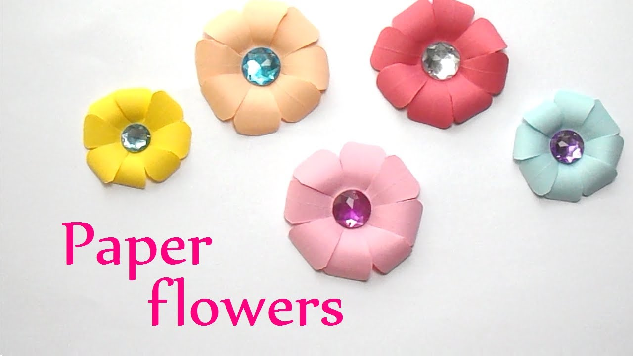 Diy Very Easy And Simple Paper Flowers Youtube Psychologyarticlesfo