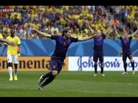 GOAL Daley Blind ! Brazil vs Holland 0-3 • Analysis WORLD CUP 2014