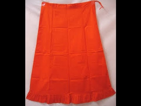 How To Cut/Measure Petticote: Saree Blouse Under Skirt Cutting Stitching Methods/Learn