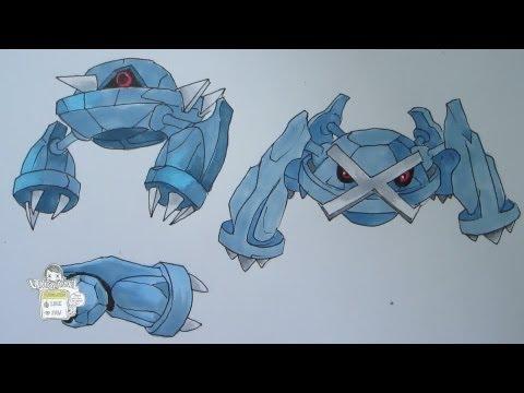 How to draw Pokemon: No. 374 Beldum, No. 375 Metang, No. 376 Metagross