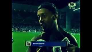 Ronaldinho Gacho em entrevista aps trmino do jogo contra o So Paulo
