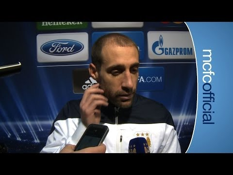 ZABALETA ON BARCELONA City 0 v 2 Barcelona Champions Pablo Zabaleta reaction