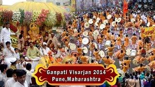 Pune, Maharashtra(08-09-2014) Ganesh Visarjan Part 1