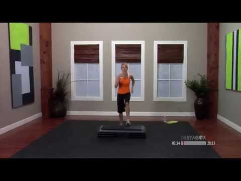 Step aerobics workout routine with Jenni - 30 Minutes