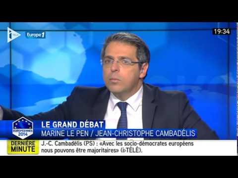 Débat Marine Le Pen FN  - Jean Christophe Cambadelis PS