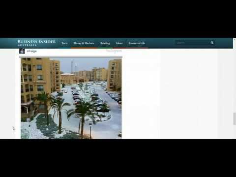 Snow in Egypt? Yes seriously it is snowing in Egypt! (14th Dec 2013)