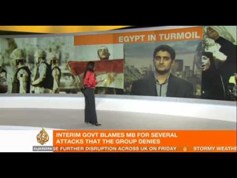 Muslim Brotherhood's Abdullah EL-Haddad reacts to their terrorist designation in Egypt
