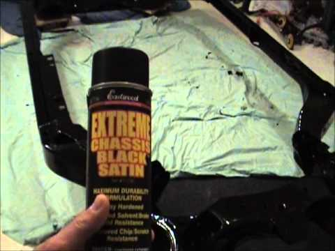 1987 Olds 442: Video 7 - Coating the Frame Continued
