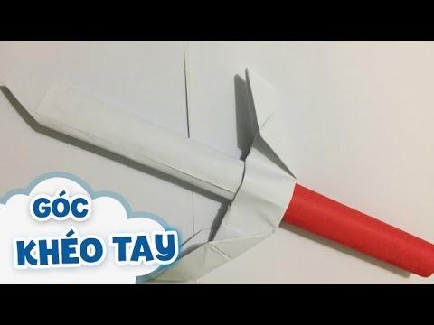 Cách làm đồ chơi cho bé: Thanh kiếm nhật bằng giấy
