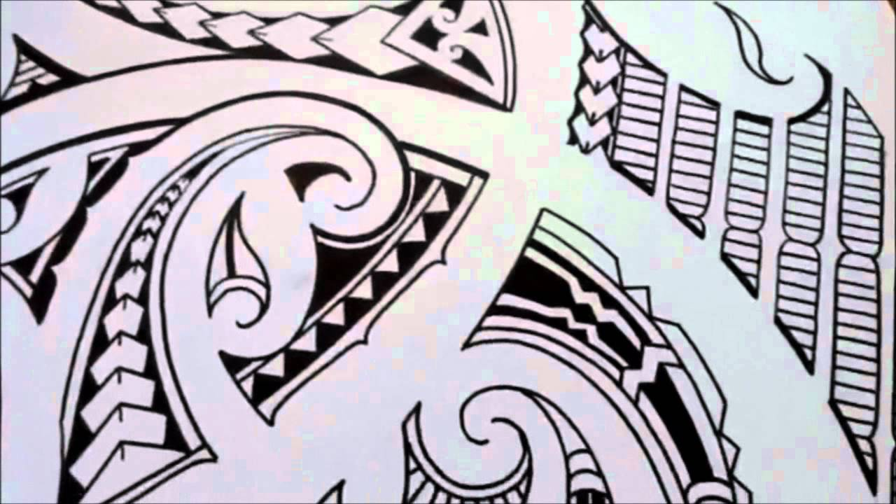How To Sketch A Tribal Polynesian Maori Shoulder Tattoo