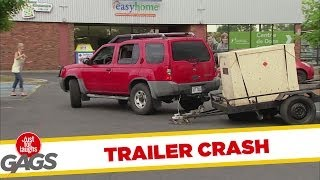 Runaway Trailer Crash