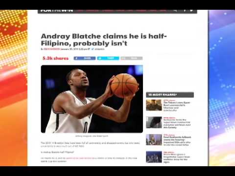Brooklyn Nets' Andray Blatche says he's Filipino; probably isn't