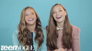 Maddie and Mackenzie Ziegler Share the Sweetest Sister Moment You've Ever Seen | Teen Vogue
