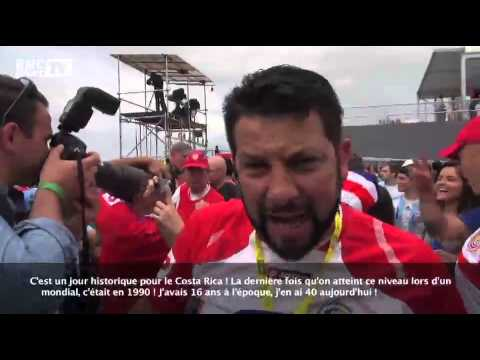 Football / Ambiance chez les supporters costaricains - 20/06