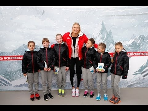 Maria Sharapova Reopens Childhood Tennis Court in Sochi