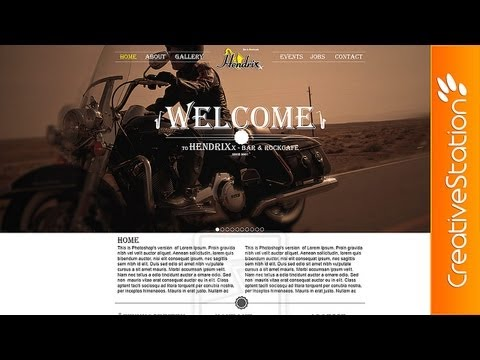 Bar & Rockcafe - Speed webdesign ( #Photoshop CS6 ) | CreativeStation
