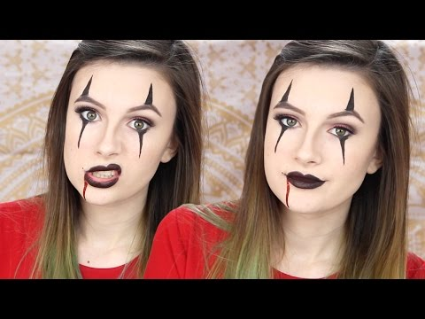 Creepy Clown Makeup Tutorial [EASY] Halloween