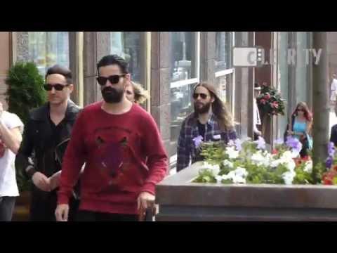 Jared Leto walking around Moscow, Russia, 10.07.2014 / Джаред Лето погулял по Москве