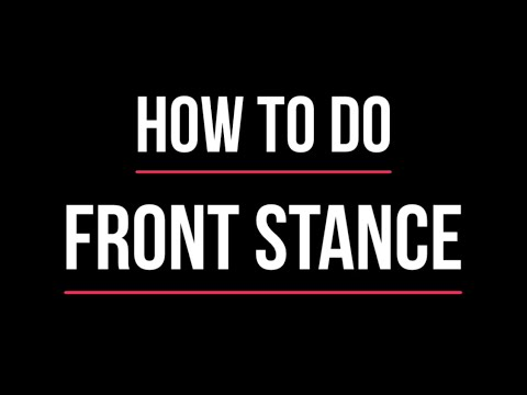 "Learn how to do front stance ""Zenkutsu Dachi"" for beginner Karate students."