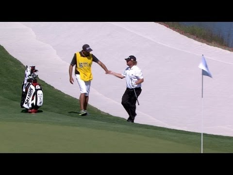 William McGirt holes out bunker shot on No 17 at RBC Heritage