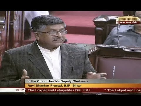 Ravi Shankar Prasad's speech on The Lokpal & Lokayuktas Bill, 2011