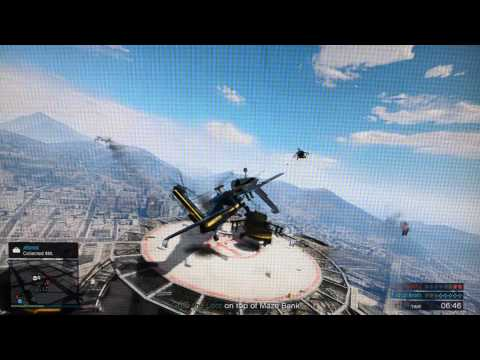 Helicopter Crashes into me a knock me off Skyscraper