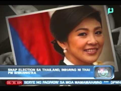 Balitaan: Snap election sa Thailand, inihayag ni Thai PM Shinawatra