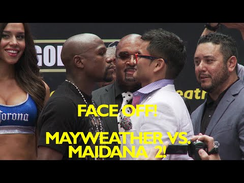 Floyd Mayweather vs. Marcos Maidana 2 : Full New York press conference & face off video