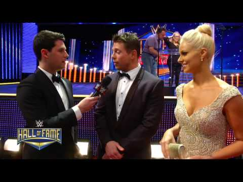 WWE Superstars and Divas on the red carpet for the 2015 WWE Hall of Fame Ceremony: March 29, 2015