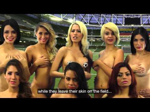 Dàn người mẫu cởi sạch sành sanh cổ vũ Copa America