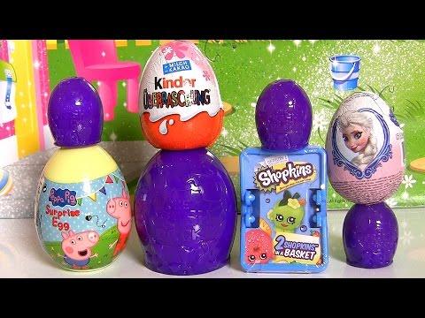 Trash-Pack Eggs Shopkins Surprise Basket Peppa-Pig Kinder Surprise Disney-Frozen Elsa toys