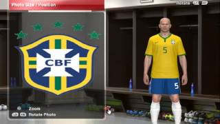 Uniforme Do Brasil 2014 Para PES 2014 [Tutorial]
