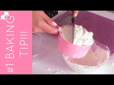 How To Properly Measure Flour (#1 baking mistake) | Baking 101 Video: Quick, Easy Tips & Tricks