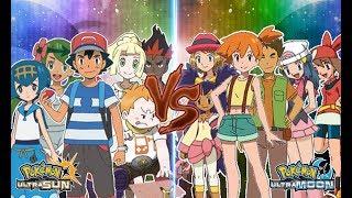 Pokemon Ultra Sun and Ultra Moon Ash, Lillie, Lana, Mallow, Kiawe, Sophocles Vs Ash's Old Friend